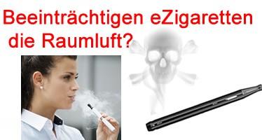 Verunreinigen eZigaretten die Luft
