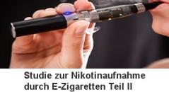 Nikotinaufnahme bei eZigaretten