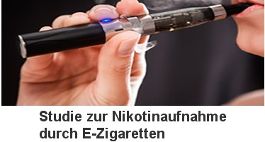 Studie Nikotinaufnahme eZigarette