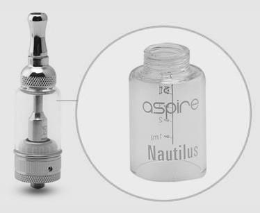Aspire Nautilus mit Glastank