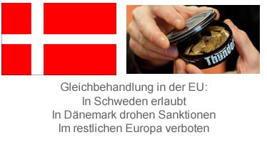 Kein Snus mehr in Dänemark