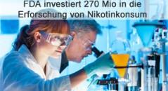 270 Mio für die Erforschung von Nikotinkonsum