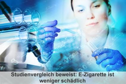 Ein neuer Studienvergleich beweist: E-Zigarette ist weniger schädlich als Tabakkonsum