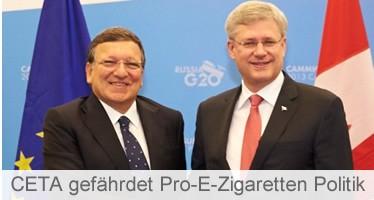 Wie CETA, TTIP & Co. eine Pro-E-Zigaretten Politik gefährden