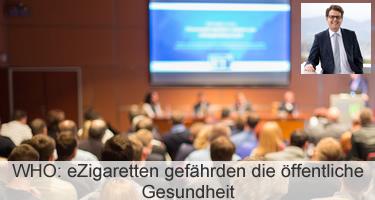 WHO: eZigaretten gefährden die öffentliche Gesundheit