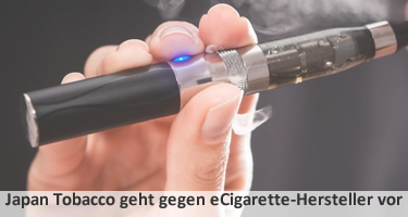 Japan Tobacco geht gegen eCigarette-Hersteller vor