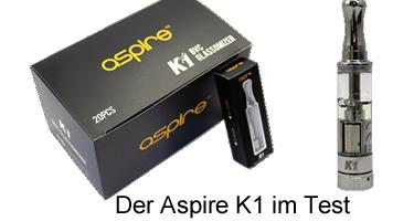 eZigaretten-Verdampfer Aspire K1 im Test