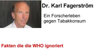 Dr. Karl Olov Fagerström oder: Ein Forscherleben gegen Tabakkonsum