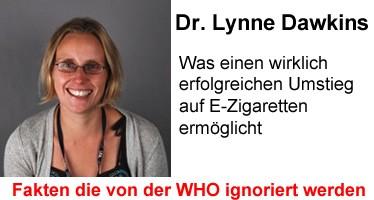 Lynne Dawkins oder: Was einen wirklich erfolgreichen Umstieg auf E-Zigaretten ermöglicht
