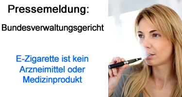 E-Zigarette ist kein Arzneimittel oder Medizinprodukt