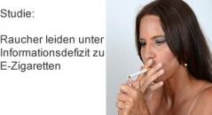 Neue Studie zeigt: Raucher leiden unter Informationsdefizit zu E-Zigaretten