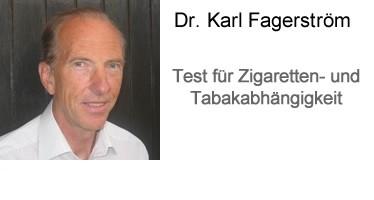 Fagerström - Test für Zigaretten- und Tabakabhängigkeit