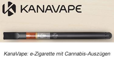 KanaVape: e-Zigarette mit Cannabis-Auszügen