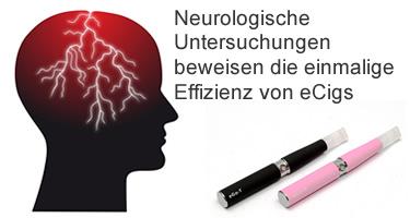 Neurologische Untersuchungen beweisen die einmalige Effizienz von eCigs