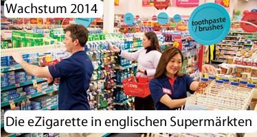 Die eZigarette in englischen Supermärkten