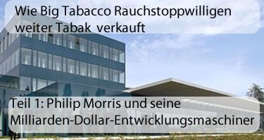 Teil 1: Philip Morris und seine Milliarden-Dollar-Entwicklungsmaschinerie
