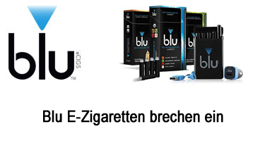 Blu E-Zigaretten brechen ein