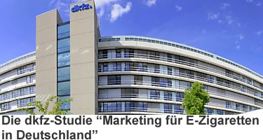 "dkfz-Studie ""Marketing für E-Zigaretten in Deutschland"""