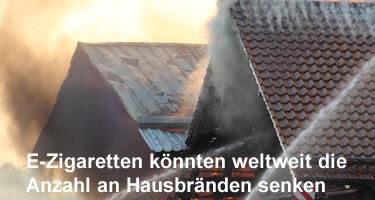 E-Zigaretten könnten weltweit die Anzahl an Hausbränden senken