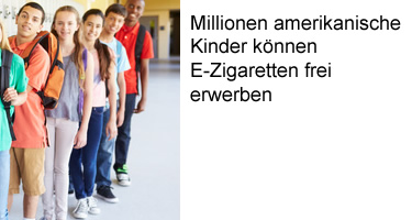 Millionen amerikanische Kinder können E-Zigaretten frei erwerben