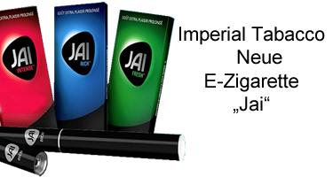 """Imperial Tabacco bringt in Frankreich neue E-Zigarette """"Jai"""" auf den Markt"""