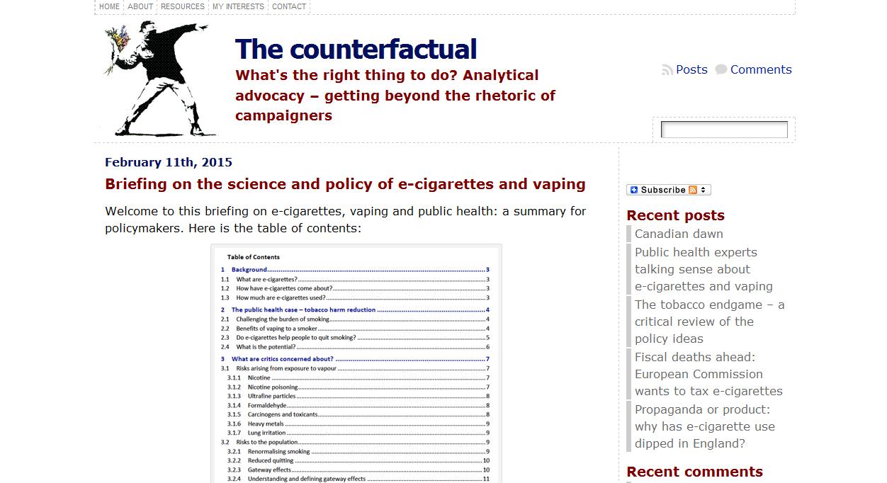The counterfactual
