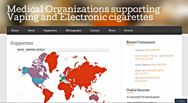 Medical Organizations supporting Vaping and electronic cigarettes