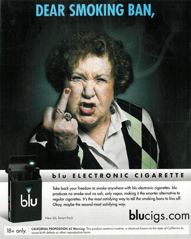 E-Zigarettenwerbung Blucigs
