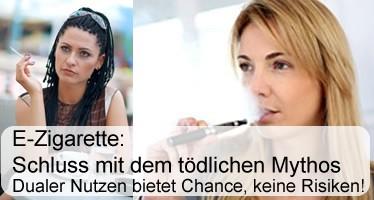 E-Zigarette: Schluss mit dem tödlichen Mythos