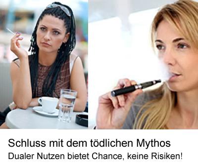 E-Zigarette: Schluss mit einem tödlichen Mythos: Dualer Nutzen bietet Chance, keine Risiken!