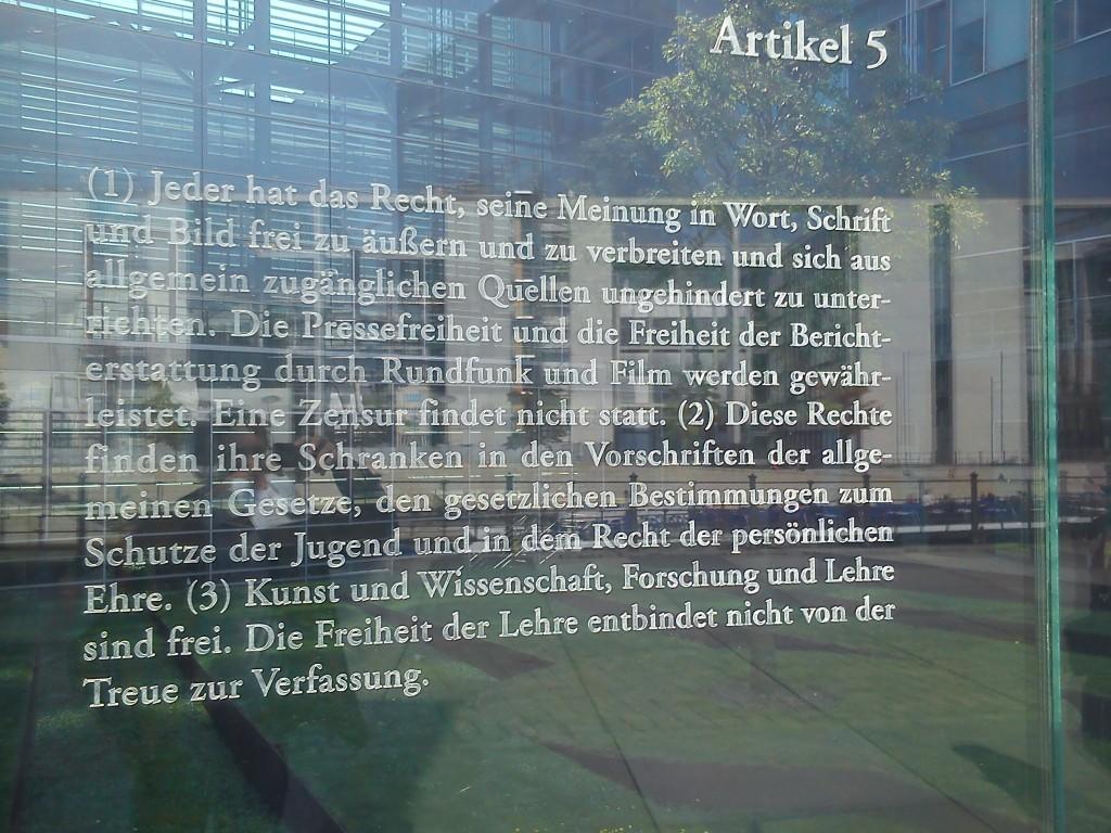 Artikel 5 Deutsches Grundgesetz