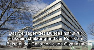 Das Versagen des Bundesinstitut für Risikoeinschätzung und der Politik am Beispiel der Gentechnik und Glyphosat