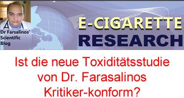 Toxiditätsstudie von Dr. Farasalinos Kritiker-konform