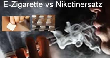 E-Zigaretten schlagen Nikotinersatzprodukte