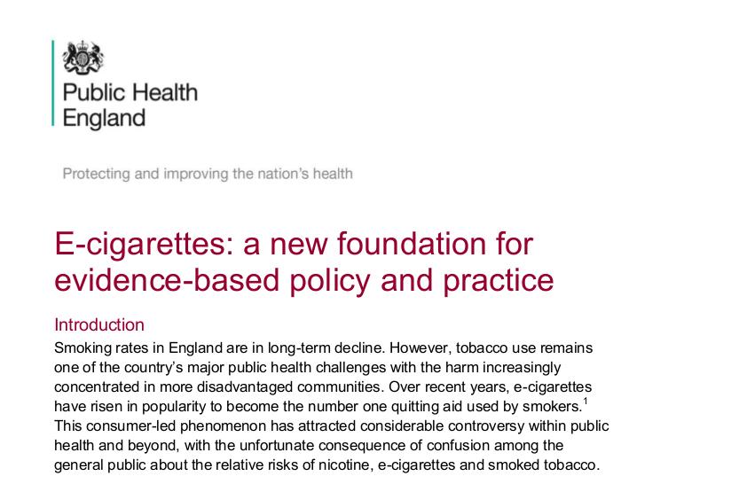 EU-Regierung empfiehlt E-Zigaretten-für den Rauch-Stopp