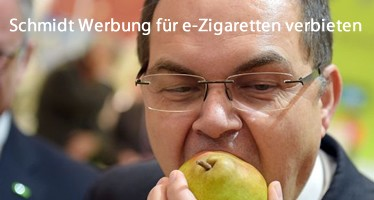 Ernährungsminister will Werbung für e-Zigaretten verbieten