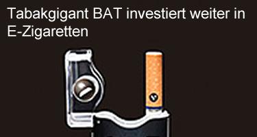 Tabakgigant BAT investiert weiter in E-Zigaretten