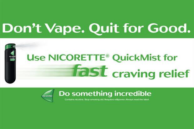 Nicorette wirbt gegen E-Zigarette