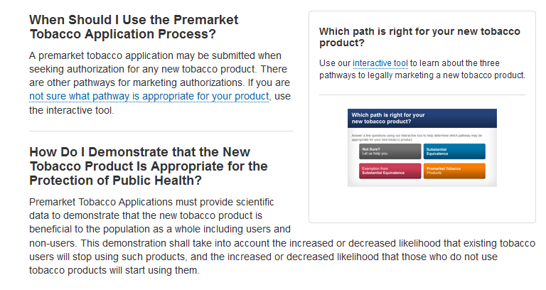 When Should I Use the Premarket Tobacco Application Process