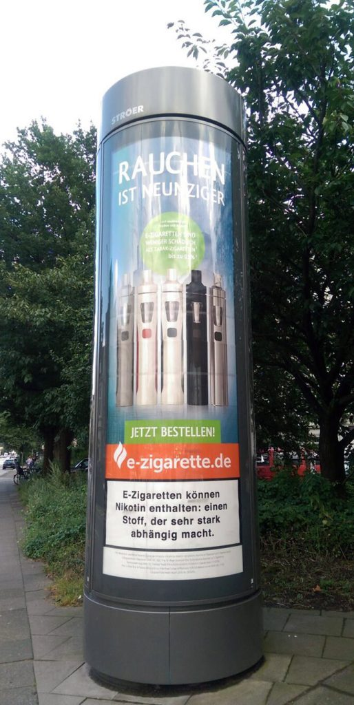 Plakatkampagne Innocigs